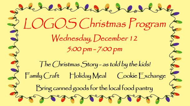 2018 LOGOS Christmas Program
