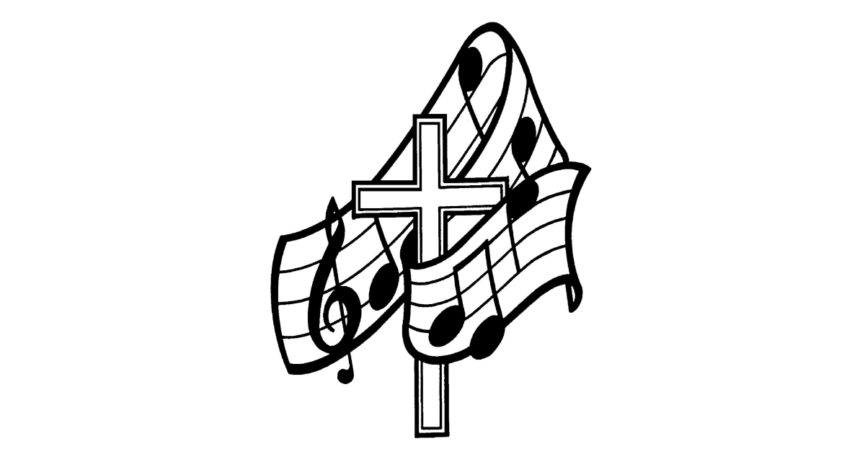 cross and musical notes